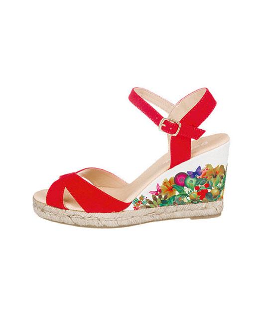 Desigual Floral Print Wedge Sandals | Melani di moda