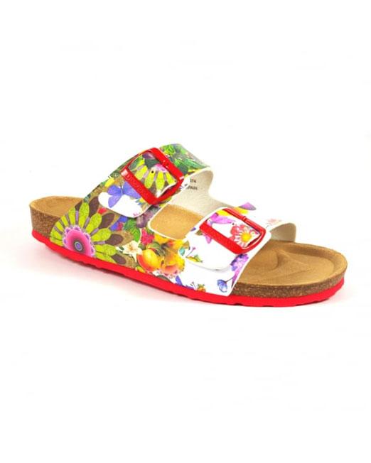 Desigual Floral Print Multi Color Sandals | Melani di moda
