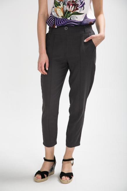 Banded Mid Waist Pants | Melani di moda