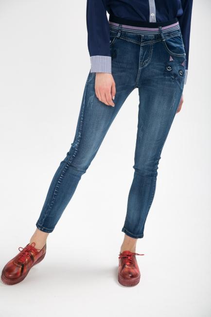 Banded Mid Waist Jeans | Melani di moda