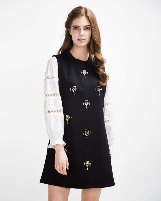 Embellished Dress 2-Piece Set   Melani di moda