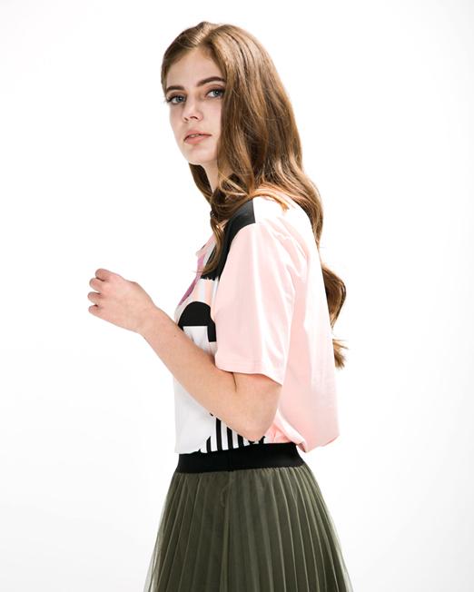 Rhinestone Print Tee | Melani di moda