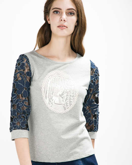 Lace Patch Top | Melani di moda