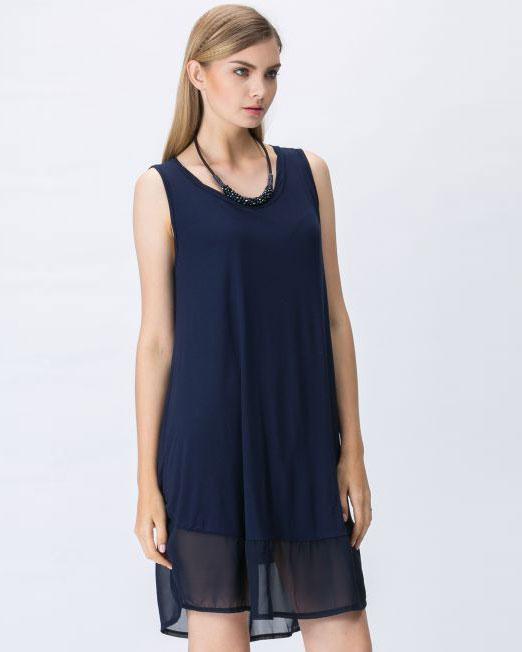 Passion 1 Sleeveless Dress with Chiffon Hem   Melani di moda