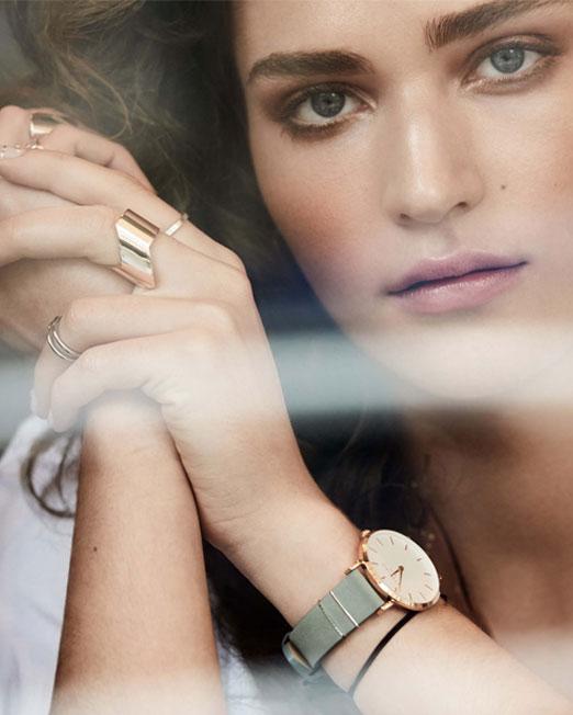 Rosefield The West Village Mint Grey Rose Gold Watch | Melani di moda