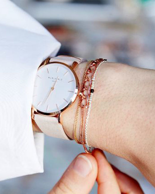 Rosefield The West Village Soft Pink Rose Gold Watch | Melani di moda
