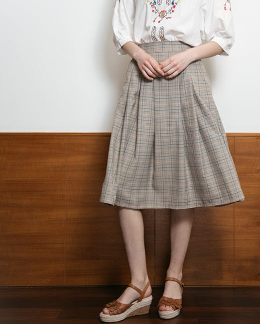 PASSION 1 Pleated Midi Skirt | Melani di moda