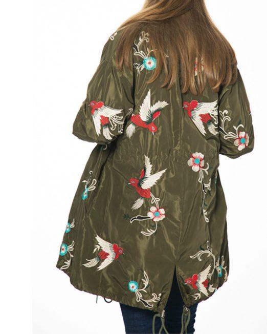 Mil Green Jacket back 522x652 Womens Clothing & Fashion