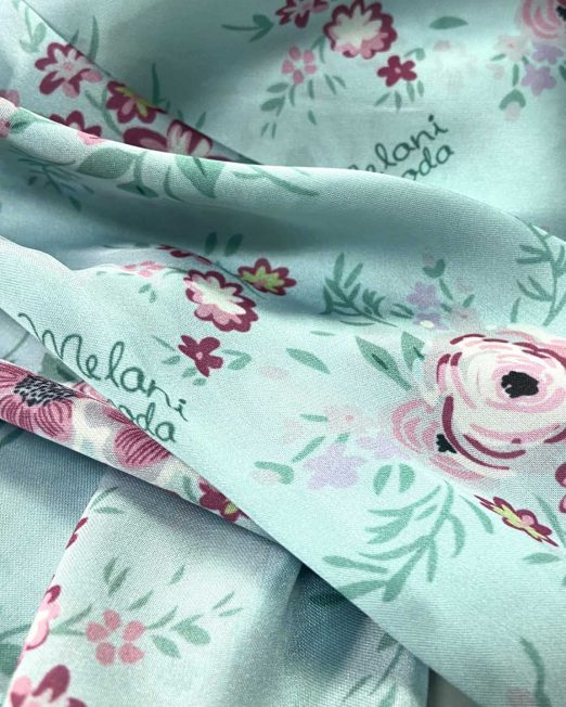 scarf and mask set blue floral close up 2 522x652 Womens Clothing & Fashion