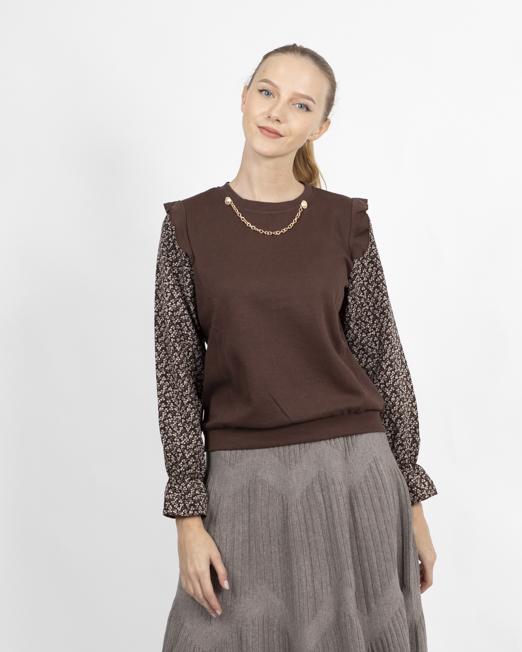 1318 EI 8123 resize 522x652 Melani 2IN1 TOP Womens Clothing & Fashion