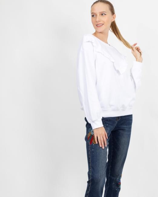 MELANI FRILLS DETAIL TOP 2 Womens Clothing & Fashion