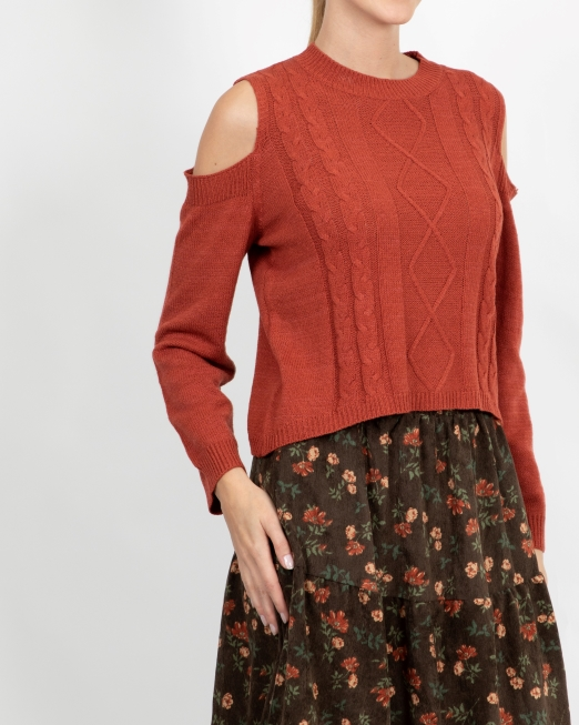 MELANI OFF SHOULDER KNIT TOP Womens Clothing & Fashion