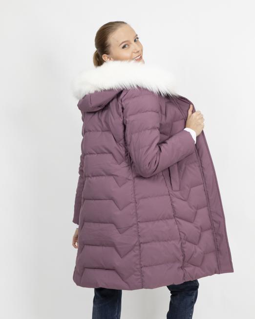 MELANI PADDED COAT WITH FAUX FUR HOOD 3 Womens Clothing & Fashion
