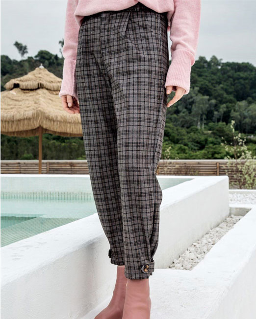 checked pants Womens Clothing & Fashion