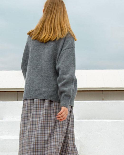 grey knit top 1 Womens Clothing & Fashion