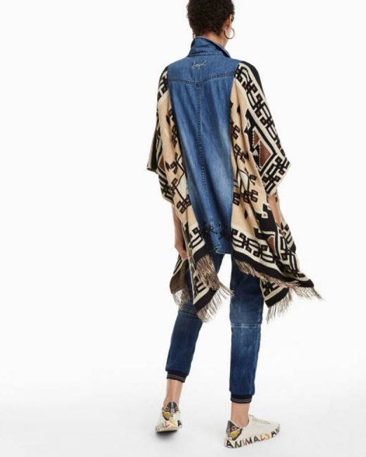 DESIGUAL BIRDY PONCHO JACKET 522x652 Womens Clothing & Fashion