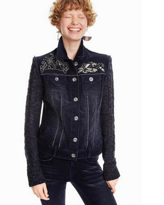 DESIGUAL EMBROIDERED DENIM JACKET 1 522x652 Womens Clothing & Fashion