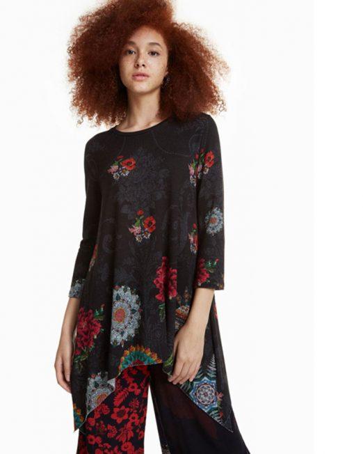 DESIGUAL FLORAL PRINT TOP2 522x652 Womens Clothing & Fashion