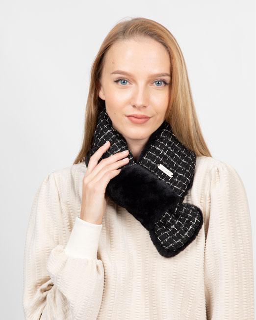 Fur scarf Womens Clothing & Fashion