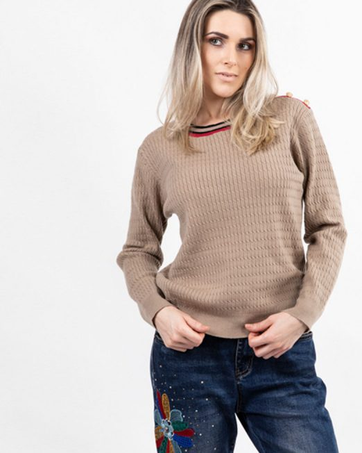MELANI CABLE KNIT JUMPER 1 522x652 Womens Clothing & Fashion