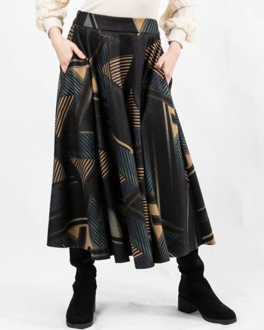 MELANI GROMETRIC PRINT SKIRT 522x652 Womens Clothing & Fashion