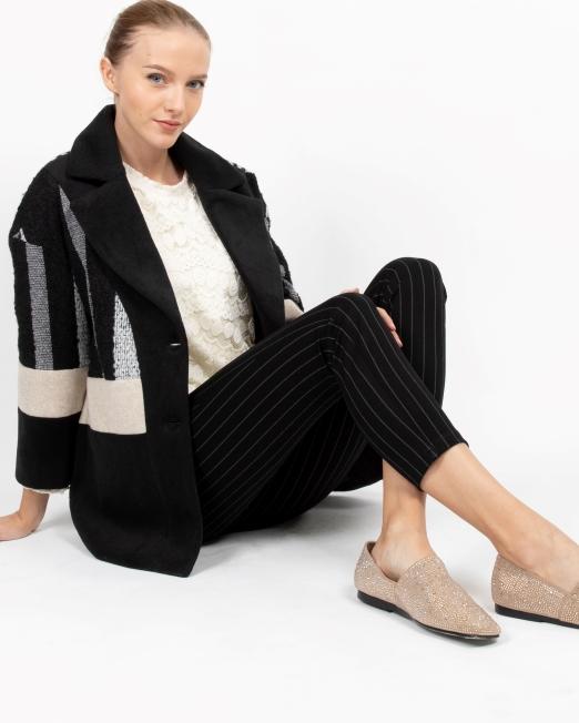 MELANI PATCHWORK BLAZER COAT 1 Womens Clothing & Fashion