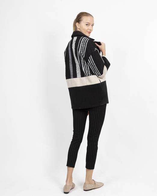 MELANI PATCHWORK BLAZER COAT 3 Womens Clothing & Fashion