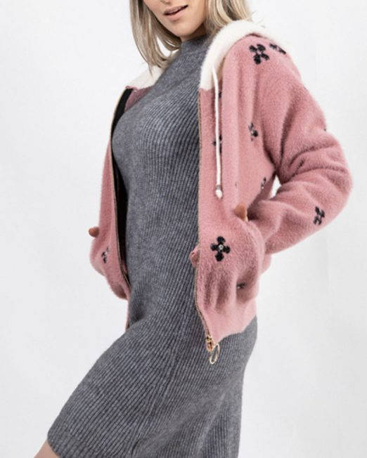 PASSION 1 DIMAOND PATTERN ZIP UP KNIT JACKET WITH HOOD3 522x652 Womens Clothing & Fashion