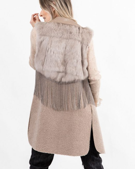 PASSION 1 RABBIT FUR PATCH VEST BLAZER2 522x652 Womens Clothing & Fashion