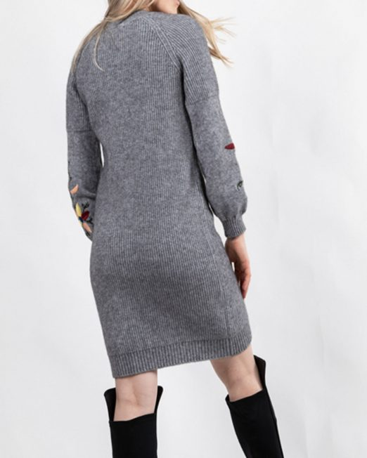 PASSION 1 SLEEVES EMBROIDERED KNIT DRESS3 522x652 Womens Clothing & Fashion