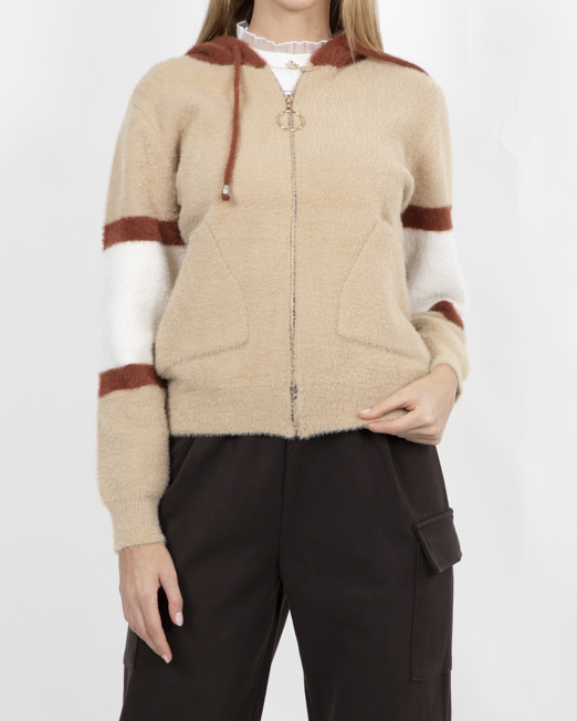 PASSION 1 ZIP THROUGH JACKET WITH CONTRAST HOOD 4 Womens Clothing & Fashion