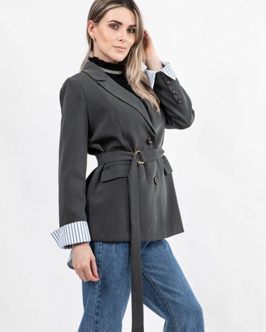 MELANI STRIPE LINING BLAZER 522x652 Womens Clothing & Fashion