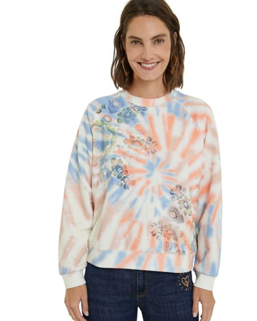 DESIGUAL DYE MANDALA SWEATSHIRT2 522x652 Womens Clothing & Fashion