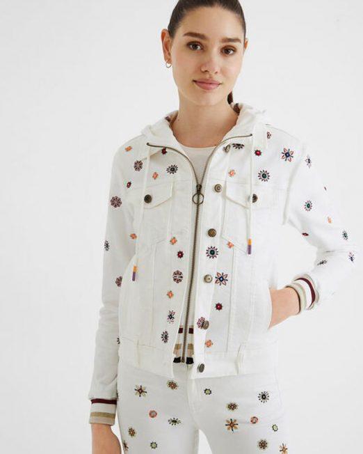 DESIGUAL EMBROIDERED SLIM DENIM JACKET3 522x652 Womens Clothing & Fashion
