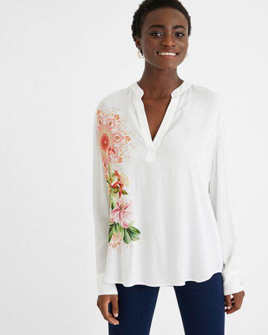 DESIGUAL FLORAL PRINT BLOUSE 522x652 Womens Clothing & Fashion