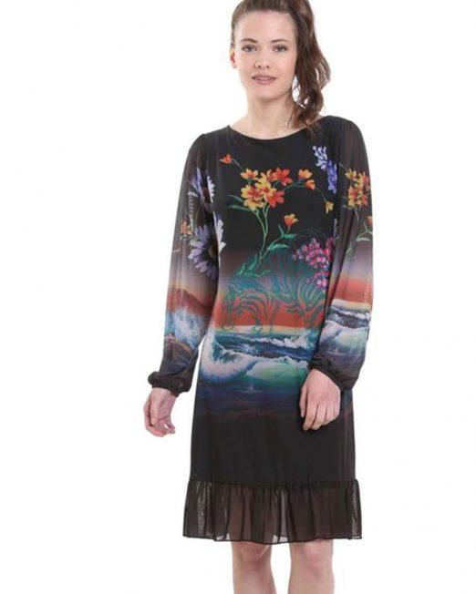 DESIGUAL FLORAL PRINT DRESS 522x652 Womens Clothing & Fashion