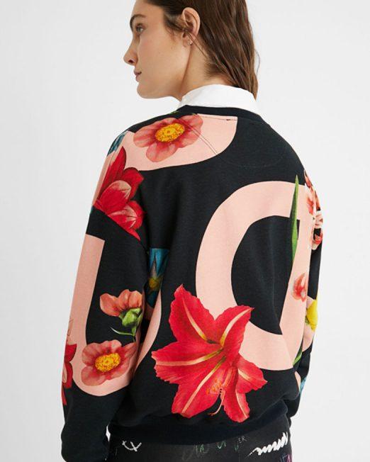 DESIGUAL FLORAL PRINT SWEATSHIRT5 522x652 Womens Clothing & Fashion