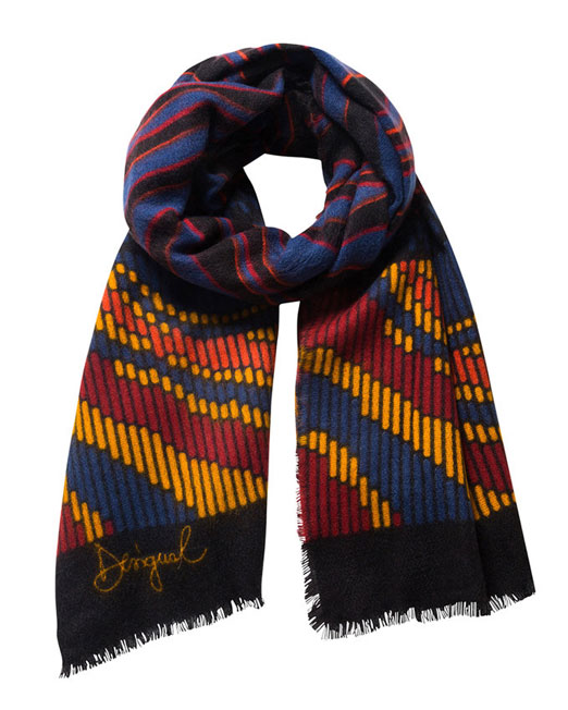 DESIGUAL MULTI COLOR ABSTRACT PATTERN SCARF2 Womens Clothing & Fashion