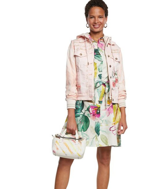 DESIGUAL PINK DENIM JACKET WITH HOOD2 522x652 Womens Clothing & Fashion