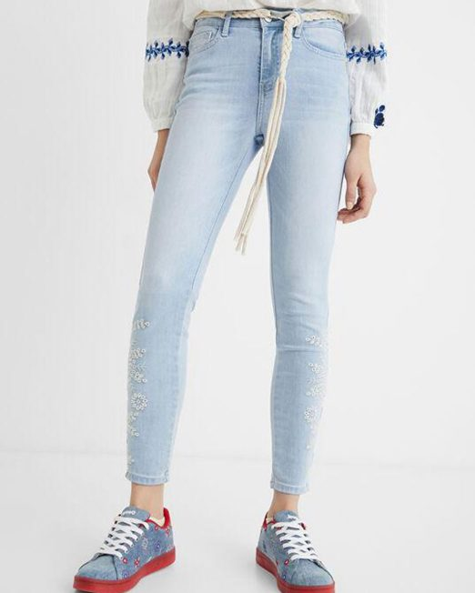 DESIGUAL SKINNY CROPPED JEANS 522x652 Womens Clothing & Fashion