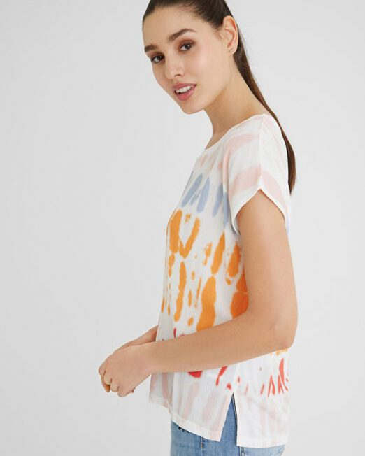 DESIGUAL TIE DYE SHORT SLEEVE TOP5 522x652 Womens Clothing & Fashion