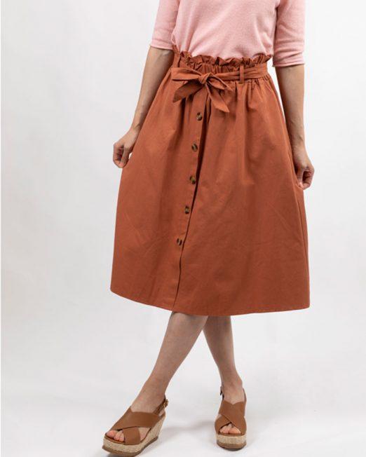 MELANI BUTTON FRONT SKIRT3 522x652 Womens Clothing & Fashion
