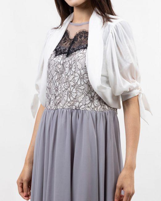 MELANI CHIFFON TIE SLEEVES JACKET5 522x652 Womens Clothing & Fashion
