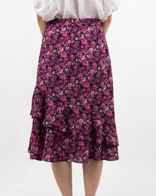 MELANI DI MODA FLORAL RUFFLE SKIRT Womens Clothing & Fashion