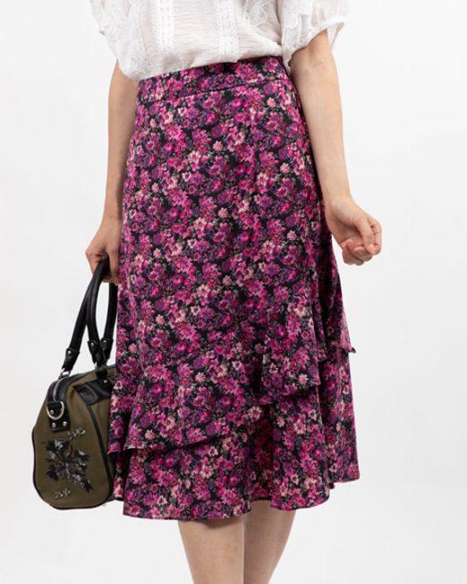 MELANI DI MODA FLORAL RUFFLE SKIRT4 522x652 Womens Clothing & Fashion
