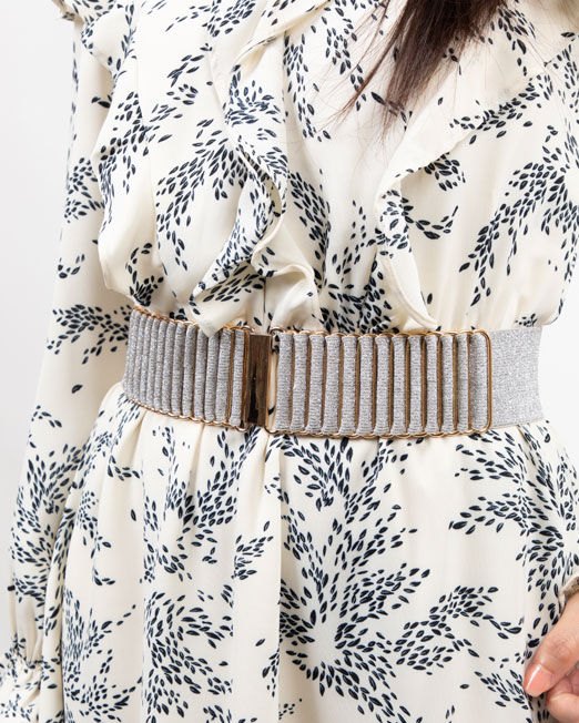 MELANI METALLIC BUCKLE ELECTIC BAND BELT 1 Womens Clothing & Fashion