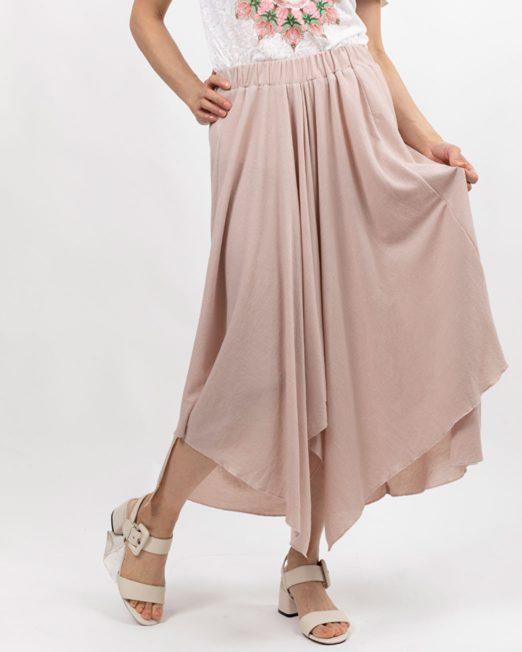 PASSION 1 BY MELANI ELASTICAED WAIST MIDI SKIRT IN PINK2 522x652 Womens Clothing & Fashion
