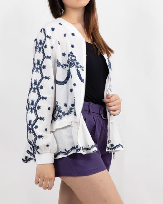 PASSION 1 BY MELANI EMBROIDERED ZIP UP JACKET 522x652 Womens Clothing & Fashion