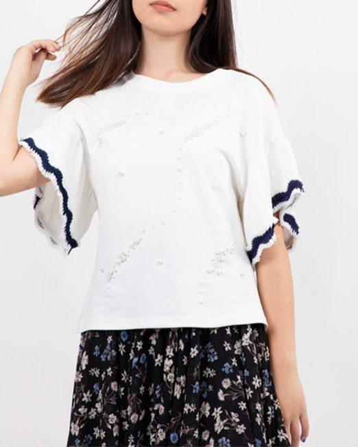 PASSION 1 BY MELANI FAUX PEARLS EMBELLISHMENT TOP5 522x652 Womens Clothing & Fashion