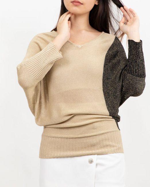 PASSION 1 BY MELANI METALLIC THREAD BATWING SLEEVE KNIT TOP3 522x652 Womens Clothing & Fashion